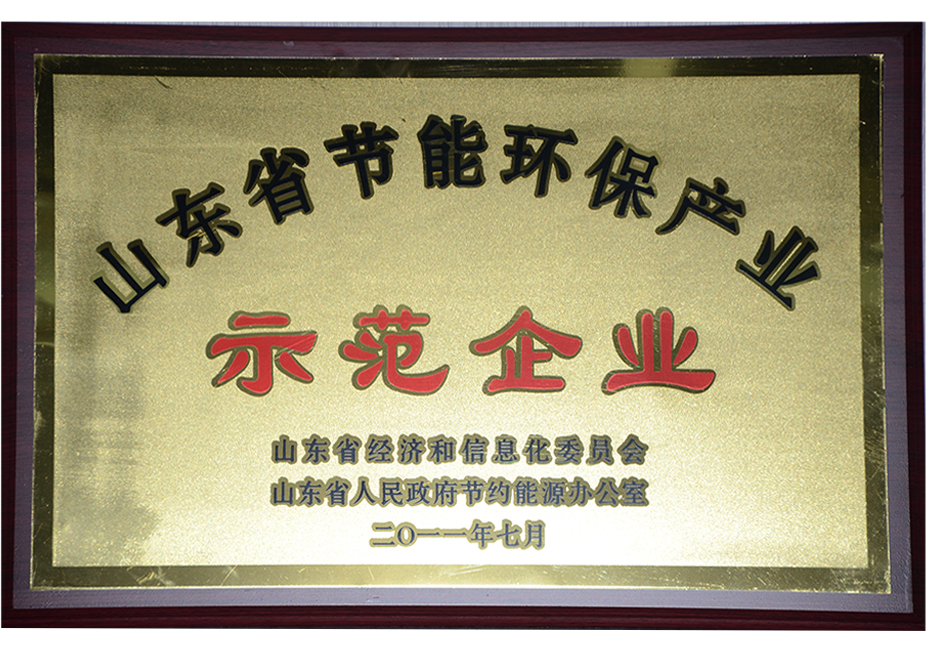 2011 Shandong Province Energy Conservation and Environmental Protection Industry Demonstration Enterprise